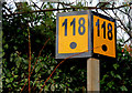 J3979 : Railway milepost, Holywood station by Albert Bridge