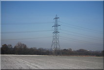 SK1409 : Pylon close to the Coventry Canal by N Chadwick
