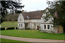 SU7037 : Estate cottages at Chawton House by Graham Horn