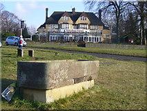 TQ2258 : Trough at Tattenham Corner by Colin Smith