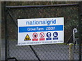 TM3763 : Grove Farm Gas Decompression Station sign by Geographer