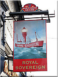 TQ7407 : Royal Sovereign sign by Oast House Archive