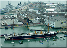 SU6200 : HMS Warrior and Portsmouth Historic Dockyard by Roger  Kidd