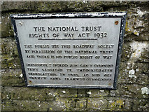 SH7877 : Rights of Way Act Notice near Telford's Suspension bridge, Conwy by Phil Champion
