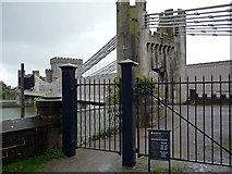 SH7877 : Telford's Suspension Bridge, Conwy by Phil Champion