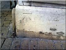 SY6778 : Benchmark on Weyfish Ltd premises, Custom House Quay by Roger Templeman