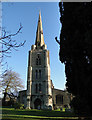 TF4411 : Leverington St Leonard's magnificent church tower by Adrian S Pye