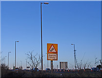 NS4565 : Road Sign, A737 by wfmillar