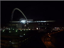 TQ1985 : Wembley: nighttime view over the stadium by Chris Downer