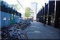 TQ2982 : Bicycle racks, Euston Station by N Chadwick