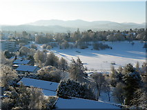 NT2273 : Snow at Ravelston by Anne Burgess