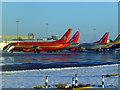 NT1574 : Aircraft at Edinburgh Airport by Thomas Nugent