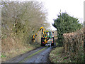 TM4177 : Trimming the hedges at Blyford, Suffolk by Adrian S Pye