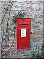 SO6799 : Victorian wallbox at Willey by Richard Law