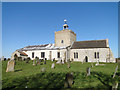 TF8442 : Burnham Overy St Clement's church by Adrian S Pye