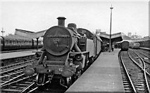 J3475 : Belfast York Road Station, with a steam train by Ben Brooksbank
