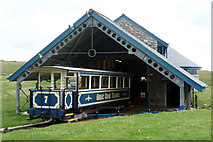 SH7783 : Car number 7 at Halfway Station, Great Orme Tramway by Phil Champion