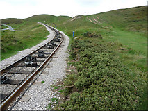 SH7783 : Great Orme Tramway - upper section above the St Tudno's Road level crossing by Phil Champion