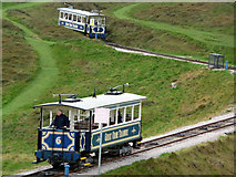 SH7683 : Great Orme Tramway, upper section by Phil Champion