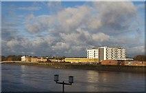 TQ2575 : Thames-side buildings opposite Wandsworth by Derek Harper