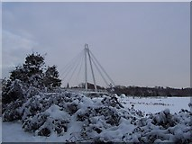 SO8453 : New bridge at Diglis in the snow by Andrew King
