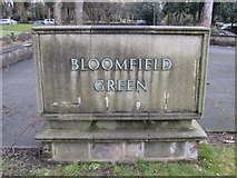 SJ3787 : Bloomfield Green commemorative plaque by John S Turner