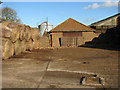 TG3607 : Barn and straw bales by Hill Farm, South Burlingham by Evelyn Simak