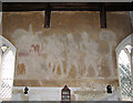 TG3708 : St Edmund's church in South Burlingham - wallpainting by Evelyn Simak