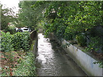 TQ3772 : The River Ravensbourne east of Fordmill Road, SE6 by Mike Quinn
