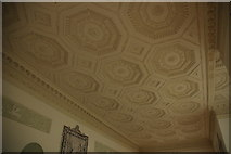 SO8844 : Ceiling in the Long Gallery, Croome Court by Philip Halling