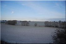 SP7065 : Field between Brampton Brook and the railway line by N Chadwick