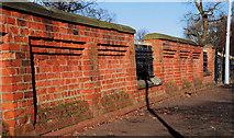 J3573 : Wall, Ormeau Park, Belfast by Albert Bridge
