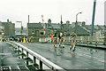 TQ3879 : 1982 London Marathon - Blackwall entrance, West India Docks by Robin Webster