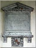 TL4538 : Holy Trinity, Chrishall, Essex - Wall monument by John Salmon
