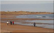 NU2422 : Walking on the beach at Embleton Bay by Walter Baxter