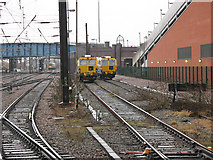 SE5703 : Doncaster station: engineer's sidings by Stephen Craven