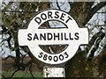 ST5800 : Sandhills: detail of more easterly finger-post by Chris Downer