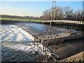 ST1778 : Weir and suspension bridge at Blackweir by John Light