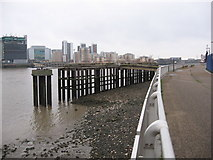 TQ3880 : Jetty at North Greenwich by Gareth James
