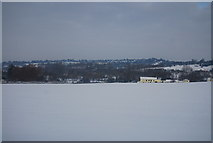 SP8828 : A large snow covered field south of Stoke Hammond by N Chadwick