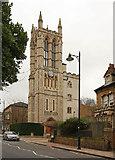 TQ3370 : Christ Church, Gipsy Hill - Tower by John Salmon