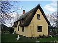 TM0488 : Thatched Cottage near Little Moor Farm, Banham by Adrian S Pye