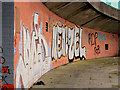 J3474 : Flyover graffiti, Belfast (1) by Albert Bridge