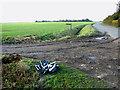 TM0887 : Winfarthing Road by Heath Farm by Evelyn Simak