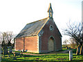 TM0588 : Chapel in Banham churchyard extension by Hunt's Corner by Evelyn Simak