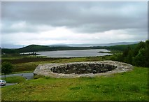 NN7754 : Tomphubil Lime Kiln and Loch Kinardochy by John MacKenzie