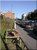 SZ1191 : Boscombe Art Trail, bench by Mike Faherty