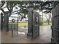 TQ4084 : Margery Gate, West Ham Park by Derek Harper
