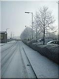 SO9596 : Snowy Bath Street by Gordon Griffiths