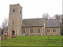 TM0099 : Little Ellingham St Peter's church by Adrian S Pye